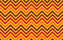Abstract Chevron Lines In Red To Orange Hues On Yellow Background, Graphic Resource As Geometric Background, Textile Print, Wallpaper And Geometric Inspiration