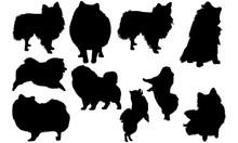 Pomeranian Dog Svg Files Cricut,  Silhouette Clip Art, Vector Illustration Eps, Black Dog  Overlay