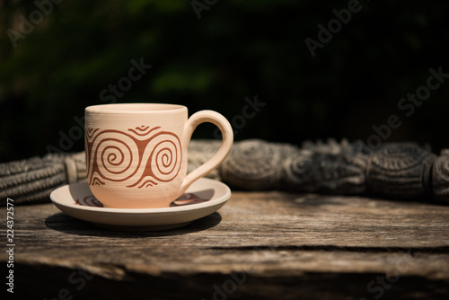 Hand made coffee cups from Thailand