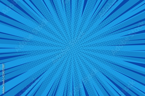 Comic abstract blue background Wallpaper Mural