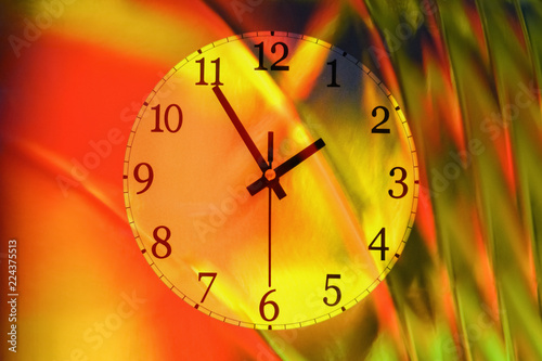 Photo Colorful wall clock