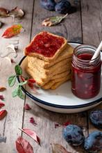 Healthy Breakfast: Stack Of Ru...