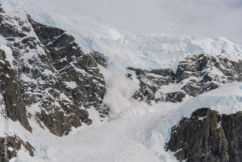 Poster Antarctica Avalanche in Antarctic mountains