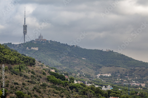 Poster Lieux connus d Amérique Tibidabo, Collserola mountain, Barcelona.