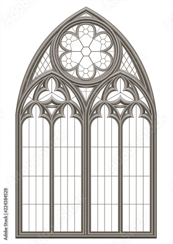 Photo  Medieval Gothic stained glass window