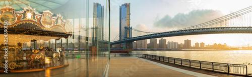 Reflection of Manhattan Bridge
