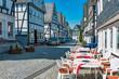 Strasse in der historischen Altstadt von Freudenberg im Siegerland