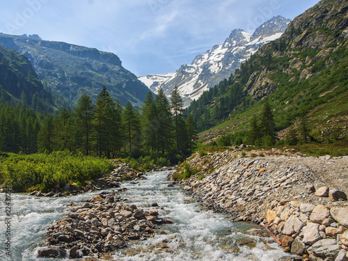 river in the Alps mountains