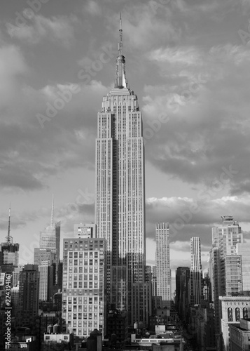 Deurstickers New York City Manhattan skyline, NYC