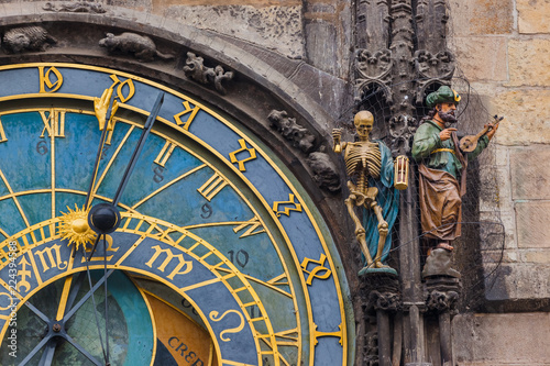 Foto op Aluminium Praag Old Astronomical clock in Prague - Czech Republic