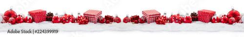 Fotografie, Tablou  Panorama Hintergrund zu Weihnachten mit Geschenken