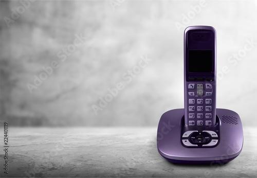 Obraz Cordless modern Phone and base station - fototapety do salonu