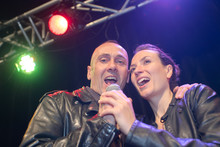 Singers Duet On The Stage