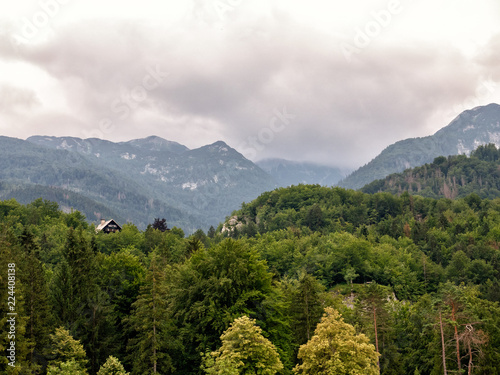 Alps near the town of Bohinj