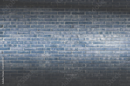 Foto op Aluminium Wand Background of old vintage brick wall,Decorative dark brick wall surface for background