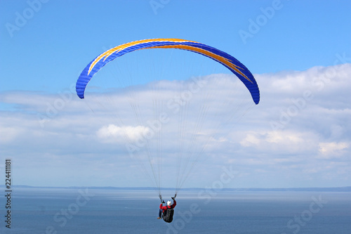Paraglider at Rhossili, Wales