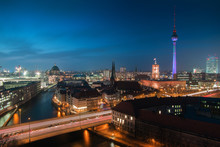 View Of The Berlin City At Night