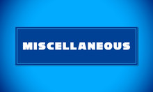 Miscellaneous - Clear White Text Written On Blue Card On Blue Background