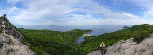 Photo Hiking on the Beehive Trail, Acadia National Park, Maine
