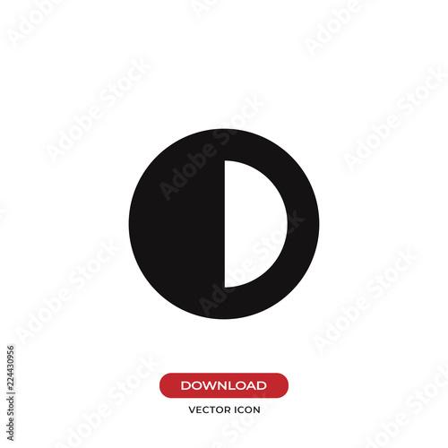 Fotografie, Obraz  Contrast vector icon