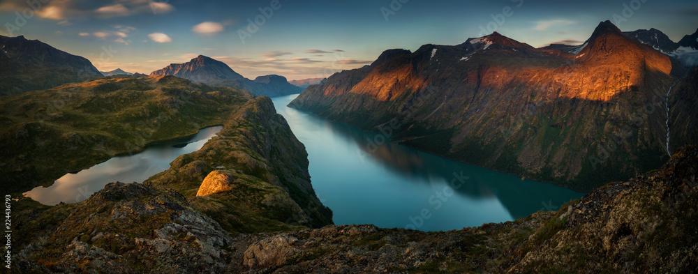 Fototapety, obrazy: Gjende Lake Panorama