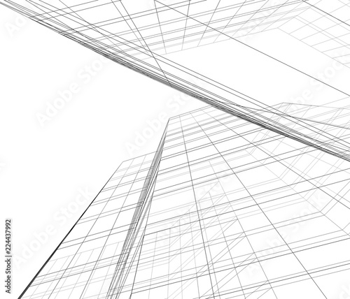 Garden Poster On the ceiling concept architecture 3d illustration