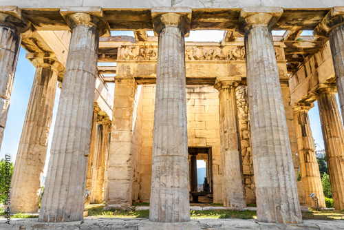Photo  Temple of Hephaestus in sun light, Athens, Greece