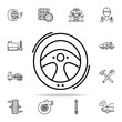 car helm icon. Cars service and repair parts icons universal set for web and mobile