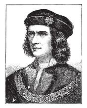 Richard III Of England, Vintage Illustration