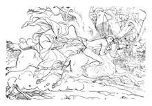 Headless Horseman, Vintage Illustration