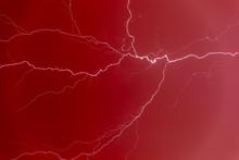 Lightning Bolt In A Red Sky.