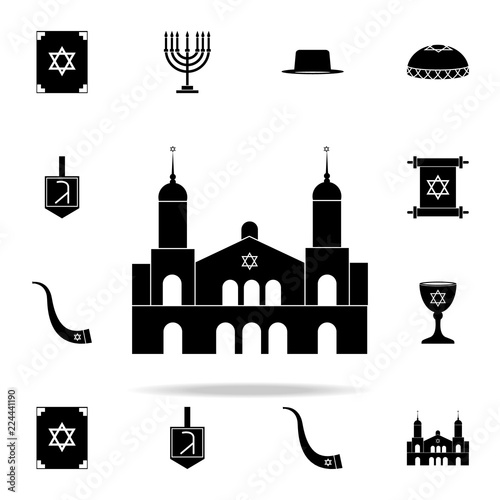 Fotografia synagogue icon. Religion icons universal set for web and mobile