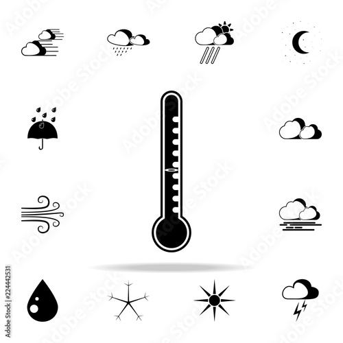 Fotografie, Obraz  mercury thermometer sign icon