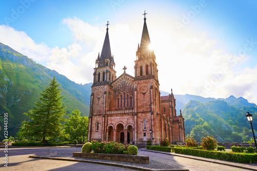 Fotomural Covadonga Catholic sanctuary Basilica Asturias