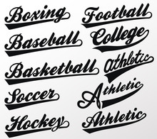 Sport Swooshes Set For Athletic Typography T-shirt. Vector