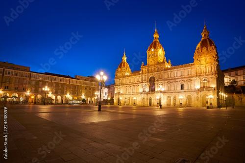 La Coruna Town hall in Maria Pita Square Galicia