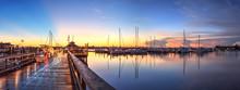 Sunrise Over Naples City Dock ...