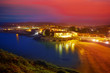 Llanes Playa del Sablon beach sunset Asturias Spain