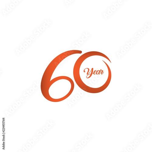 Fotografia  60 Year Anniversary Vector Template Design Illustration