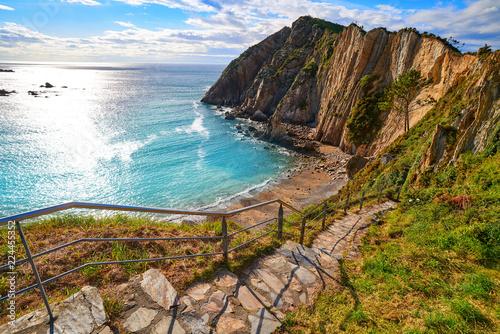 Playa del Silencio in Cudillero Asturias Spain