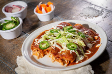 Plate Of Mexican Red Enchiladas