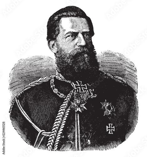 Fotomural Frederick III, German Emperor, vintage illustration