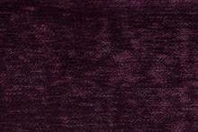 Dark Purple Fluffy Background Of Soft, Fleecy Cloth. Texture Of Light Nappy Textile, Closeup.