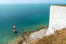 The Lighthouse At Beachy Head, The Highest Cliff In Great Britain
