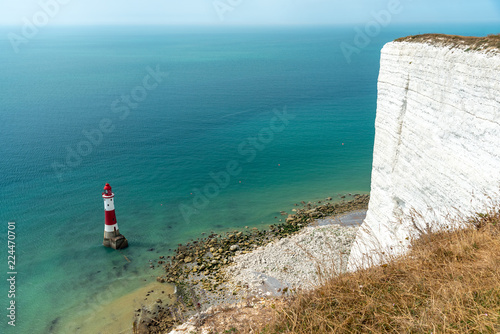 Fotografie, Obraz  The lighthouse at Beachy Head, the highest cliff in Great Britain