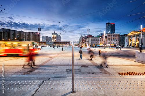 Obraz Katowice rynek - fototapety do salonu