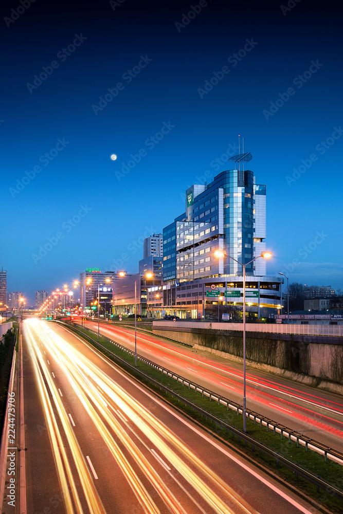 Fototapety, obrazy: Katowice nocą, Śląsk