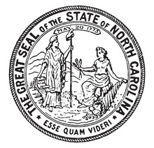 The Great Seal Of The State Of North Carolina, 1773, Vintage Illustration