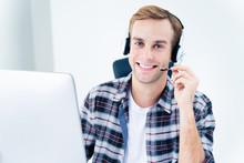 Portrait Of Customer Support Phone Operator