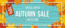 Autumn Sale. Fallen Maple Leav...